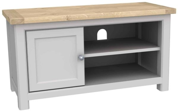 Bretagne Painted 1 Door TV Cabinet   Fully Assembled