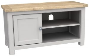 Bretagne Painted 1 Door TV Cabinet | Fully Assembled