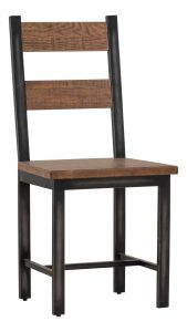Besp-Oak Forge Iron and Old Oak Dining Chair (Pair)