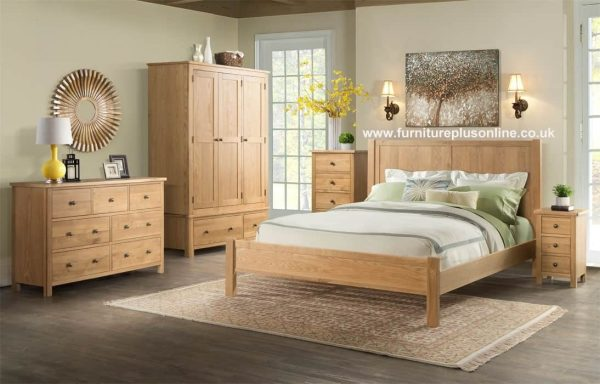 Devonshire Burford Oak 4` 6″Double Bed