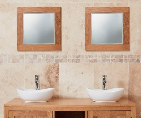 Baumhaus Mobel Oak Bathroom Collection – Solid Oak Mirror (Small)
