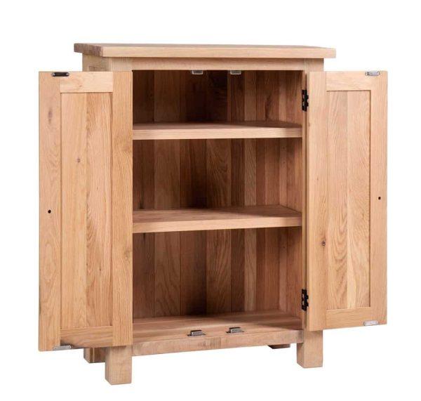 Besp-Oak Vancouver Sawn White Wash Oak 2 Door Sideboard | Fully Assembled