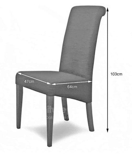 Italia Lipstick Fabric Dining Chair (Pair)