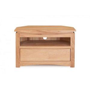 Baumhaus Roscoe Contemporary Oak Corner Television Cabinet