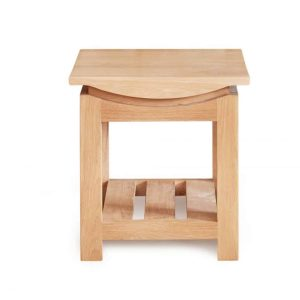 Baumhaus Roscoe Contemporary Oak Lamp Table
