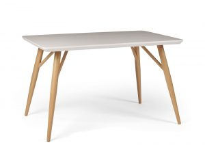 Contempo Rectangular Dining Table – white high gloss