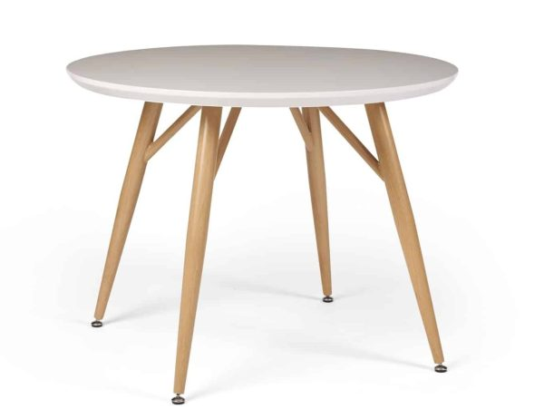 Contempo Round Dining Table – white high gloss