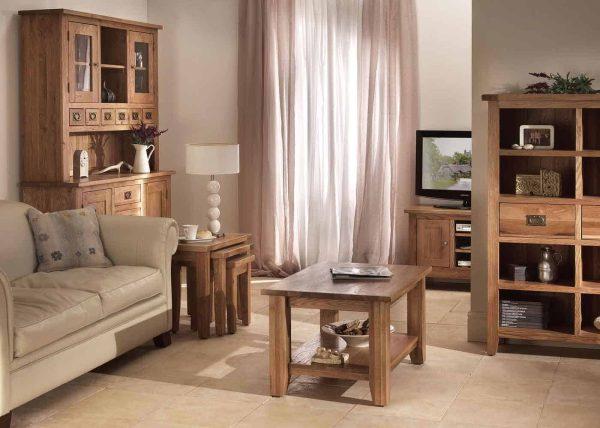 Besp-Oak Vancouver Oak VSP 2 Door 1 Drawer Glazed Display Unit | Fully Assembled