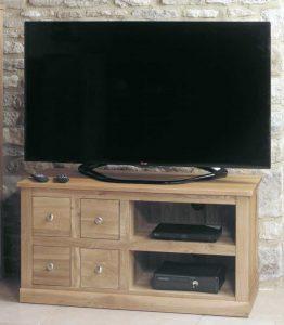 Baumhaus Mobel Oak 4 Drawer TV Cabinet