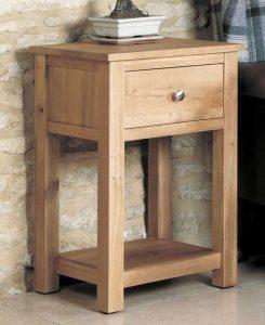 Baumhaus Mobel Oak One Drawer Lamp Table