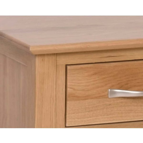Devonshire New Oak 6 Drawer Double Pedestal Dressing Table