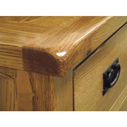 Devonshire Rustic Oak 3′ Sideboard 2 Drawers & 2 Doors | Fully Assembled