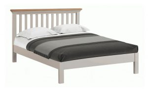 Homestyle Cotswold Grey With Oak Top 4'6″ Double Bed