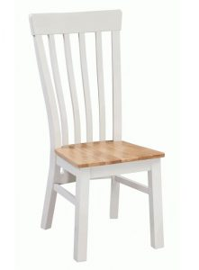 Homestyle Cotswold Grey With Oak Top Solid Seat Dining Chair (Pair) | Fully Assembled