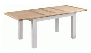 Homestyle Cotswold Grey With Oak Top Extending Dining Table