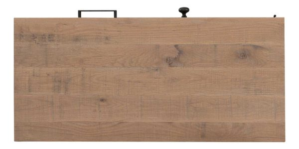 Besp-Oak Forge Iron and White Wash Oak TV Unit 1 Door 1 Drawer   Fully Assembled