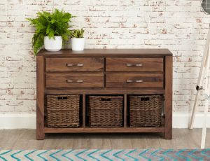 Baumhaus Mayan Walnut Console Table