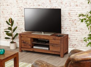 Baumhaus Mayan Walnut Widescreen TV Cabinet