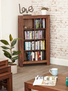 Baumhaus Mayan Walnut Open DVD/CD Storage Cabinet