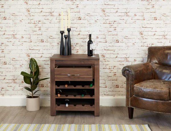Baumhaus Mayan Wine Rack Lamp Table | Fully Assembled