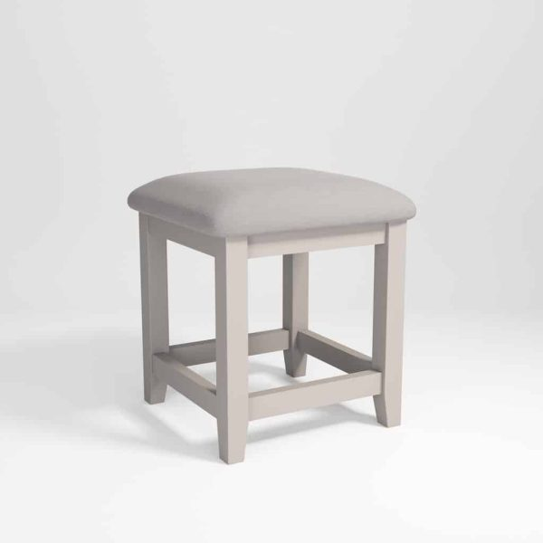 Hampshire Light Grey With Chalked Oak Tops Dressing Stool