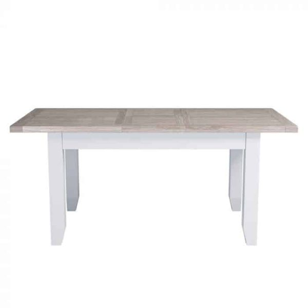 Hampshire Light Grey With Chalked Oak Tops Extending Dining Table 140cm – 180cm