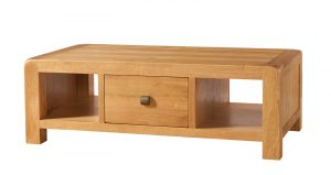 Avon Waxed Oak Large 1 Drawer Coffee Table | Fully Assembled