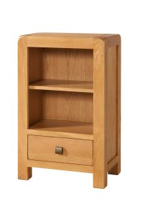 Avon Waxed Oak Small Bookcase | Fully Assembled