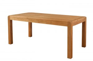 Avon Waxed Oak Large Fixed Top Dining Dining Table