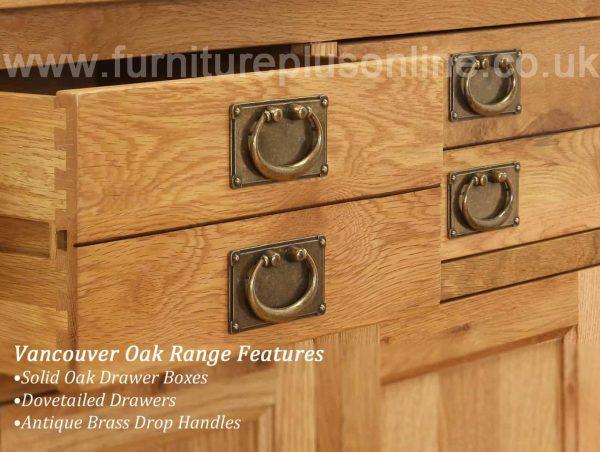 Besp-Oak Vancouver Oak 6 Drawer Tall Narrow Chest   Fully Assembled
