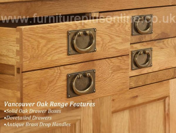 Besp-Oak Vancouver Oak 5 Drawer Chest | Fully Assembled