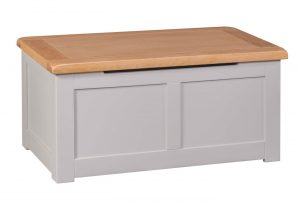Homestyle Diamond Painted Grey Blanket Box | Fully Assembled