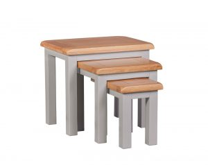 Homestyle Diamond Painted Grey Nest of Tables | Fully Assembled