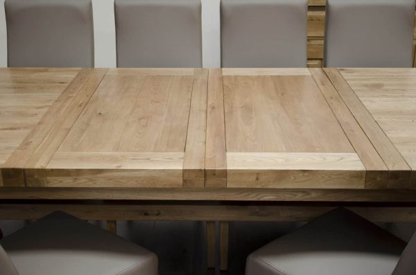 Homestyle Deluxe Solid Oak 2.4m Super X-Leg Extending Dining Table