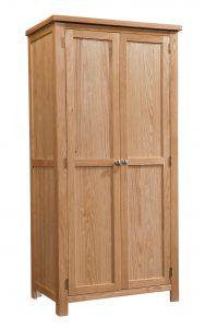 Devonshire Dorset Oak 2 Door Double Wardrobe