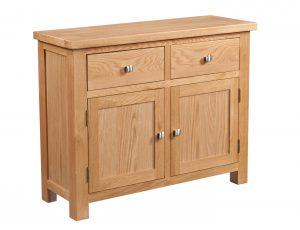 Devonshire Dorset Oak 2 Door, 2 Drawer Sideboard | Fully Assembled