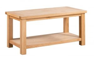 Devonshire Dorset Oak Large Coffee Table with Shelf