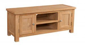 Devonshire Dorset Oak 2 Door Large TV Unit | Fully Assembled
