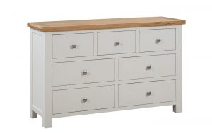 Devonshire Dorset Painted Ivory 3 over 4 Drawer Chest | Fully Assembled