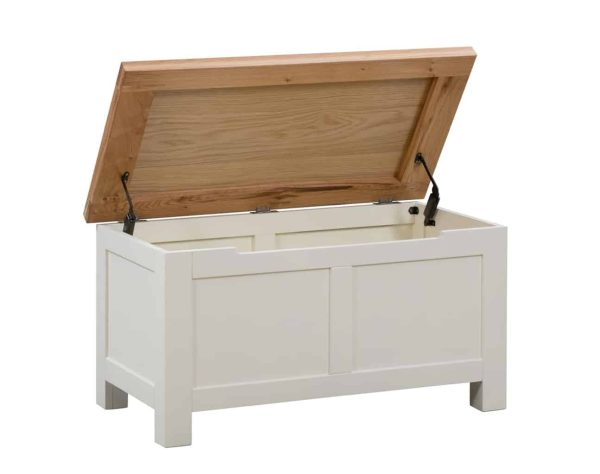 Devonshire Dorset Painted Ivory Blanket Box | Fully Assembled