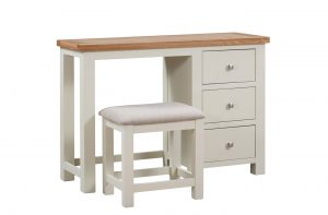 Devonshire Dorset Painted Ivory Dressing Table  and Stool (Mirror available separately) | Fully Assembled