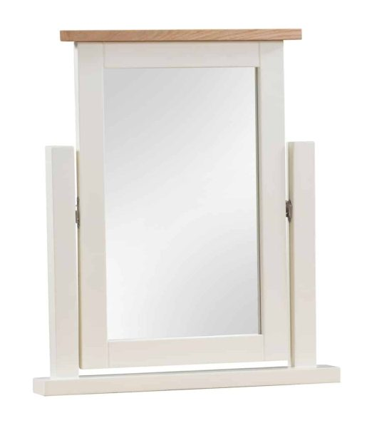 Devonshire Dorset Painted Ivory Dressing Table Mirror | Fully Assembled