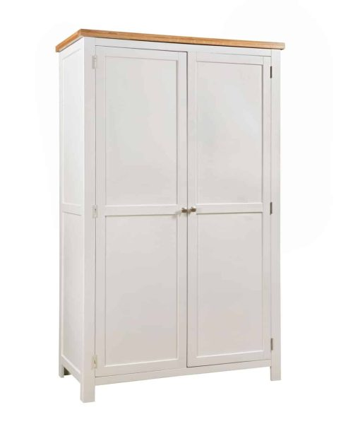 Devonshire Dorset Painted Ivory 2 Drawer Double Wardrobe | Fully Assembled