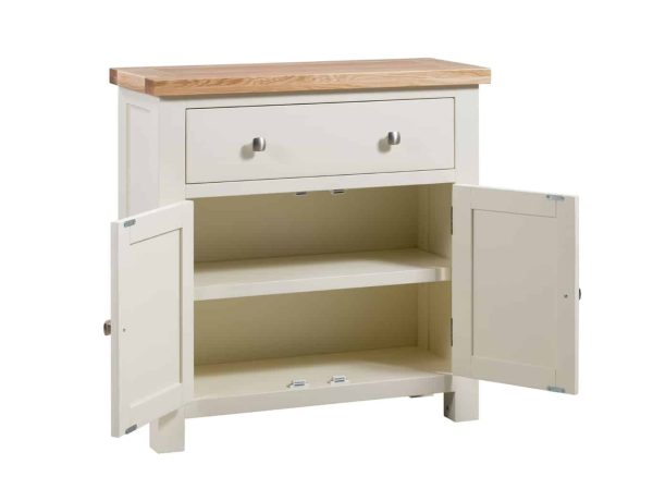 Devonshire Dorset Painted Ivory 1 Drawer, 2 Doors Small Sideboard | Fully Assembled