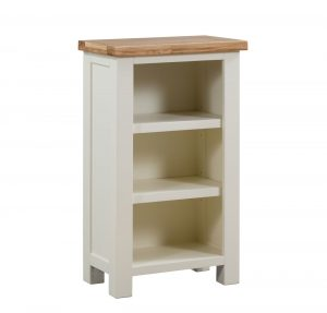 Devonshire Dorset Painted Ivory Small Bookcase | Fully Assembled