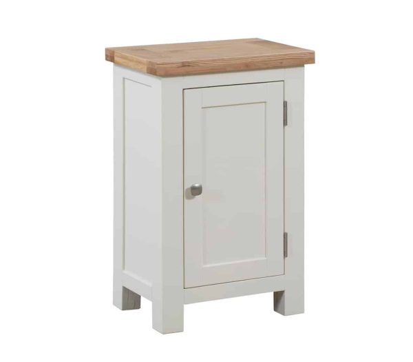 Devonshire Dorset Painted Ivory Small Cabinet 1 Door Sideboard | Fully Assembled