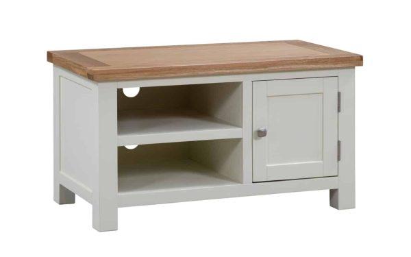 Devonshire Dorset Painted Ivory 1 Door Standard TV Unit | Fully Assembled