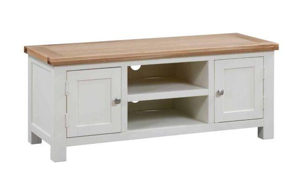 Devonshire Dorset Painted Ivory 2 Door Large TV Unit   Fully Assembled