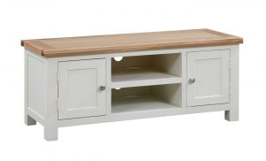 Devonshire Dorset Painted Ivory 2 Door Large TV Unit | Fully Assembled