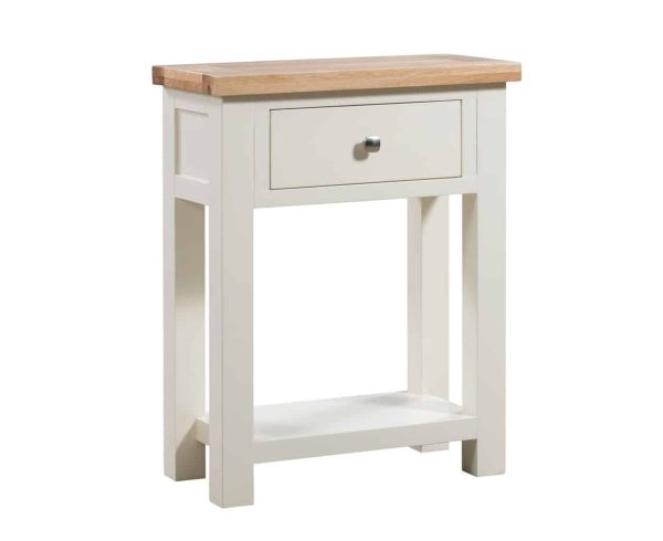 Devonshire Dorset Painted Ivory 1 Drawer Console Table